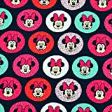 MAGAM-Stoffe Minnie Mouse Dots Jersey Kinder Stoff Oeko-Tex Meterware 50cm