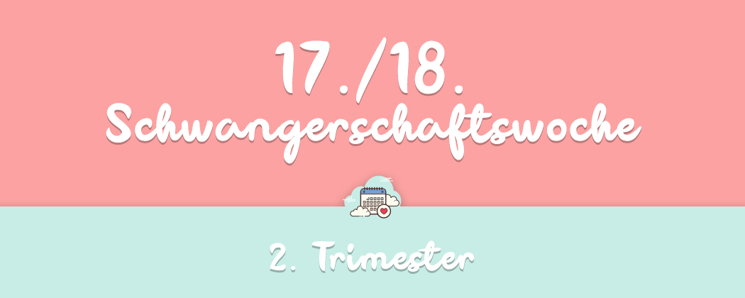 Banner: 17./18. Schwangerschaftswoche