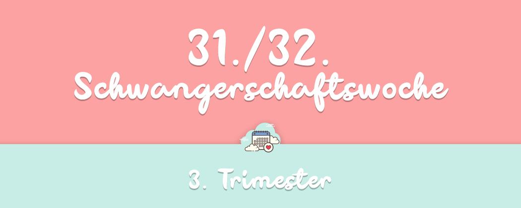 Banner: 31./32. Schwangerschaftswoche