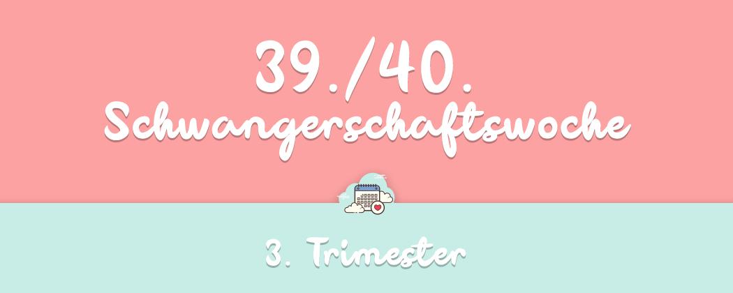 Banner: 39./40. Schwangerschaftswoche