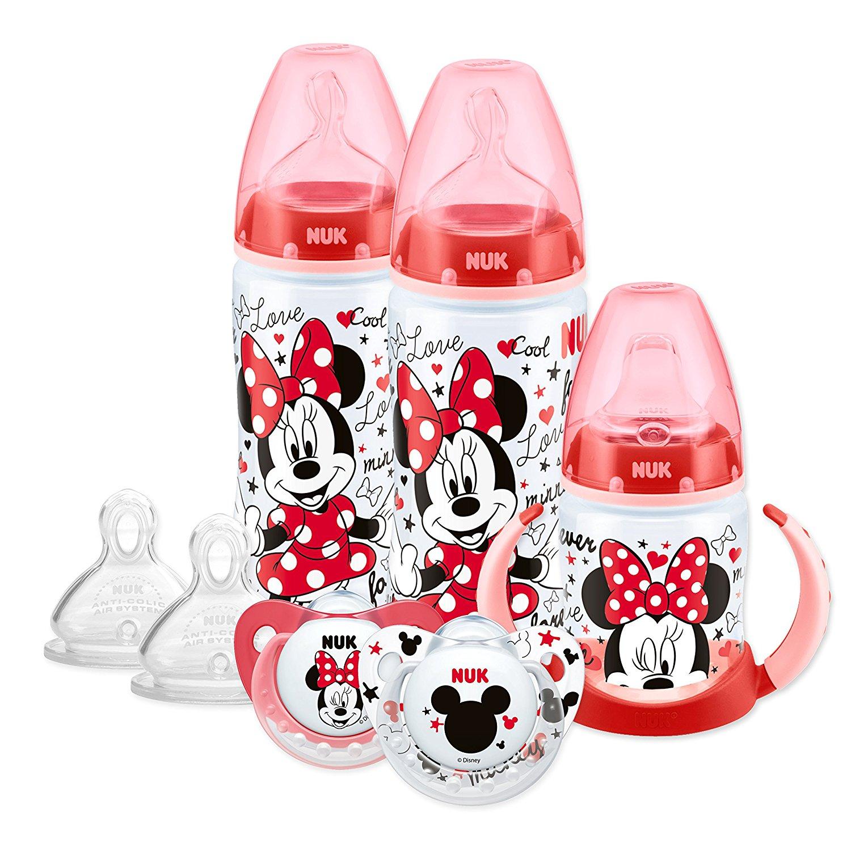 Nuk Flaschen und Schnuller mit Minnie Mouse Print