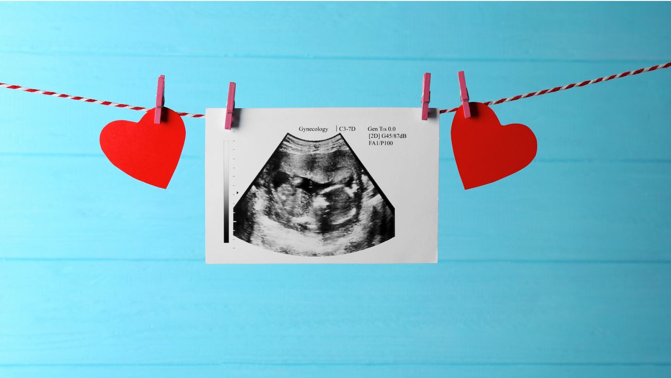 Ultraschall auf der Wäscheleine