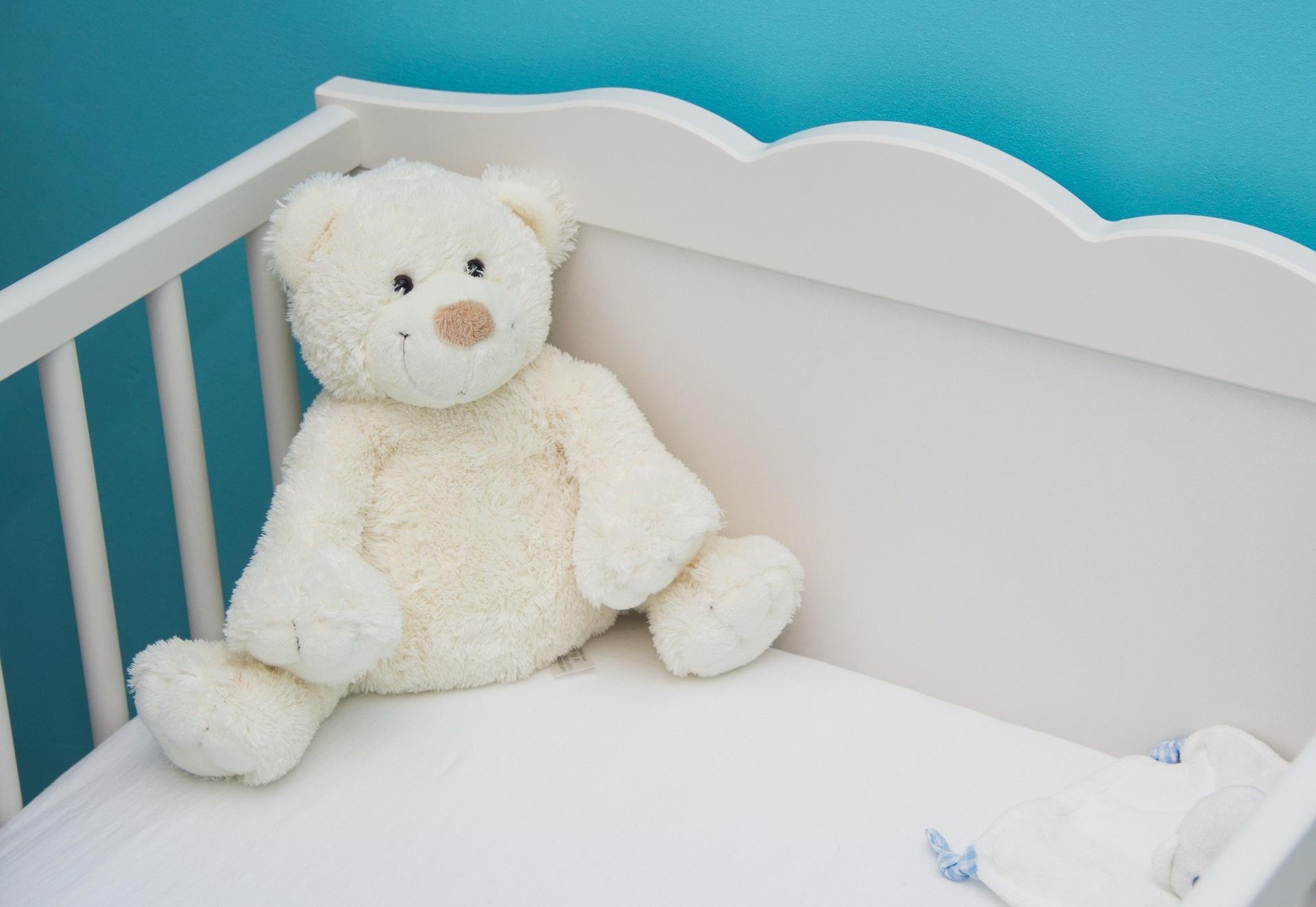 babybett mit teddy