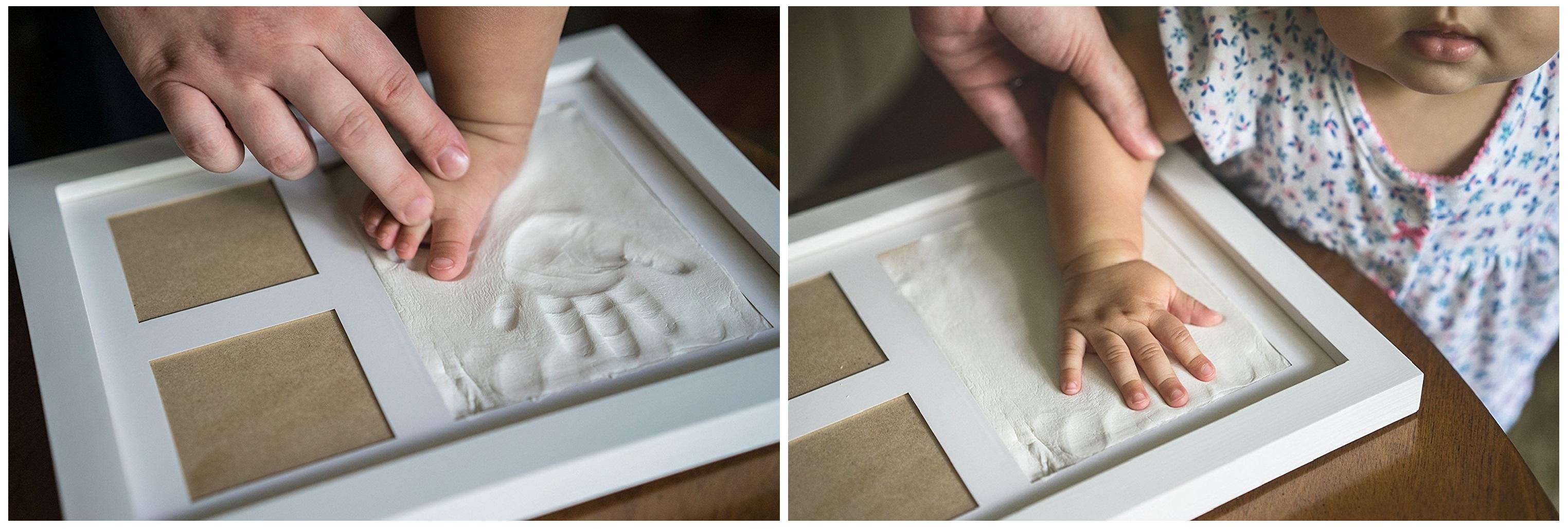 Bilderrahmen mit Hand- und Fußabdruck