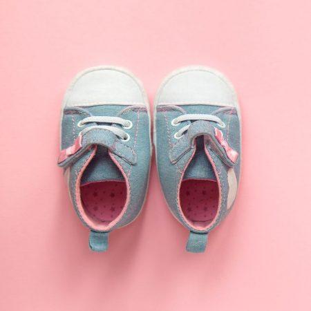 babyschuhe in blau