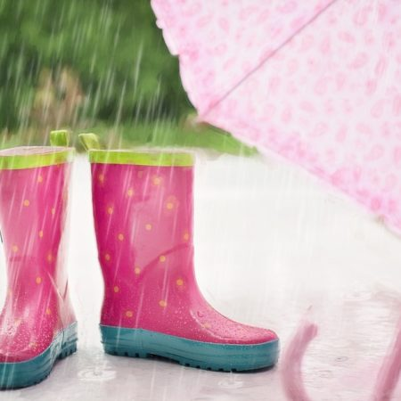Regenstiefel im Regen