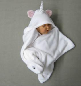 Einhorn-Einschlagdecke für Babys