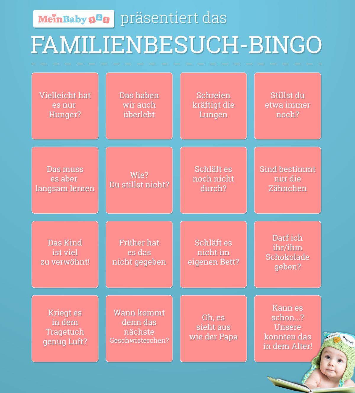 Bullshit Bingo für den Familienbesuch