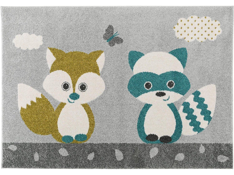 Fuchs und Waschbär Teppich