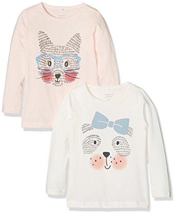 name it Mädchenshirts mit Hund und Fuchs