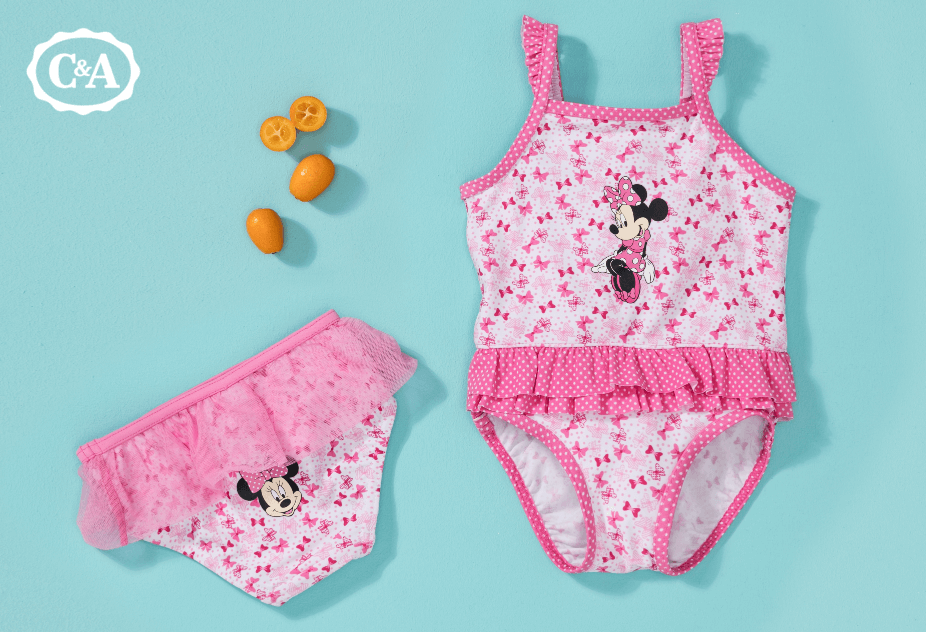 Pinker Minnie Mouse Badeanzug für Babys