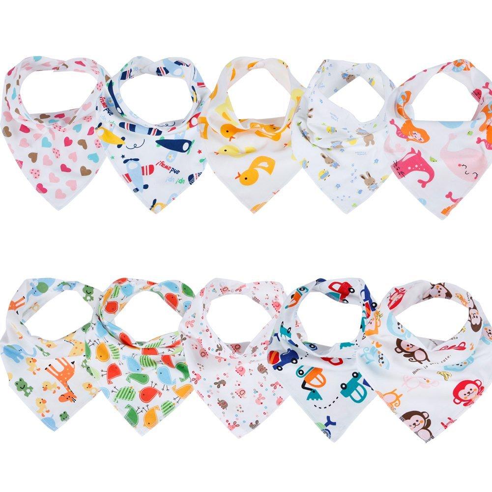 10 bunte Halstücher für Babys