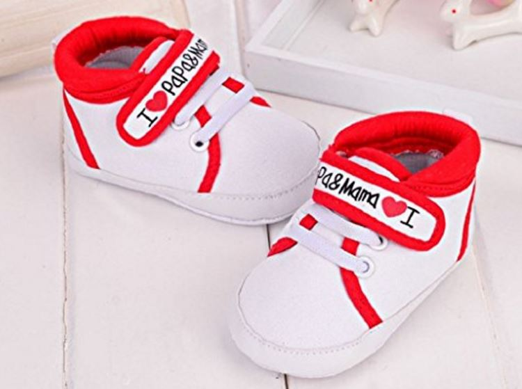 i love mama und papa schuhe krabbelschuhe laufschuhe baby neugeborene kinder weiß sneaker