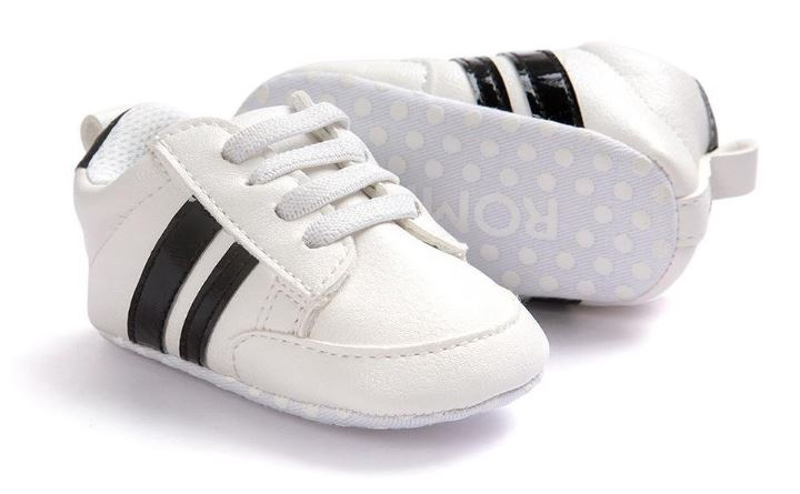 Itaar Babyschuhe in weiß schwarz