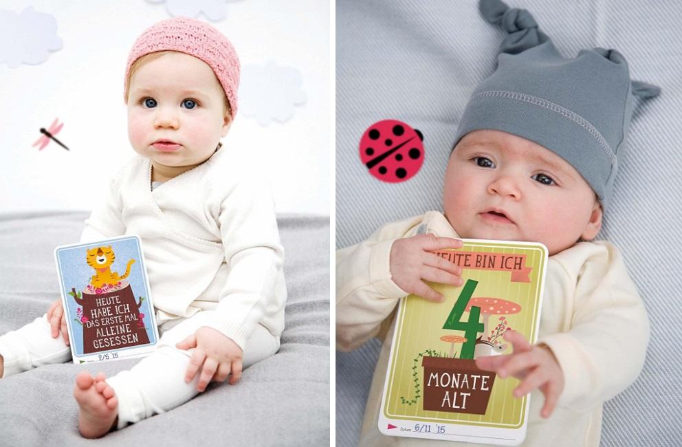 baby mit milestonecards
