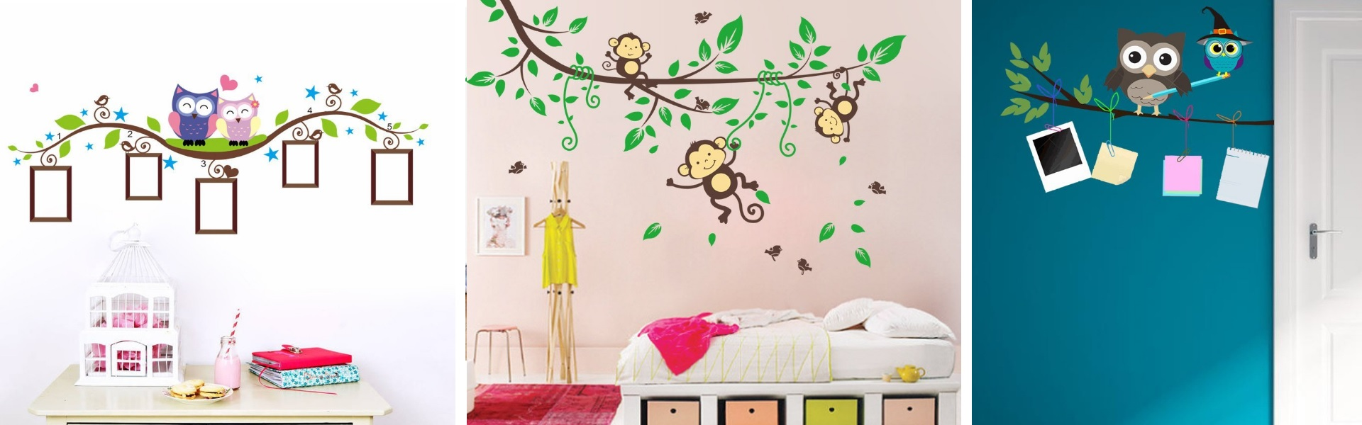 eulen wandsticker f rs kinderzimmer. Black Bedroom Furniture Sets. Home Design Ideas
