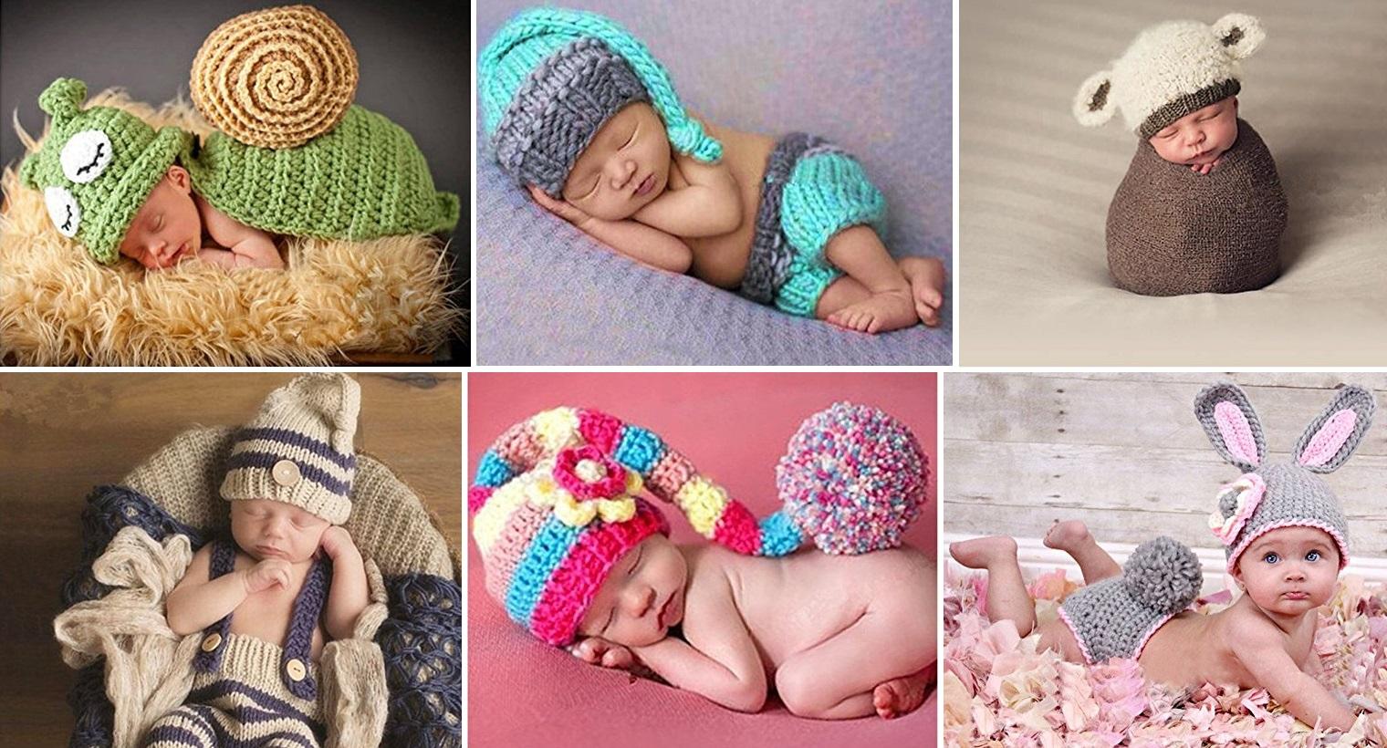 Babys im Strickkostüm