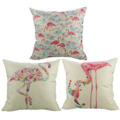3er Set Flamingo Kissen