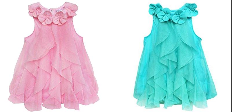 Sommerkleidchen, rosa und türkis