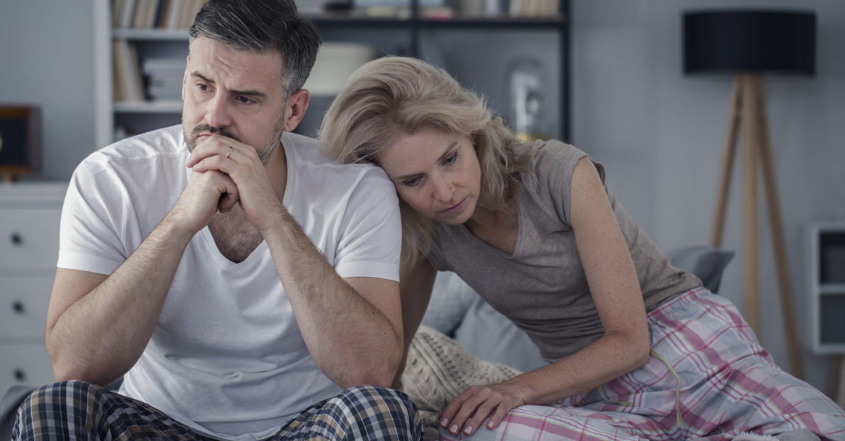 Verzweifeltes Paar