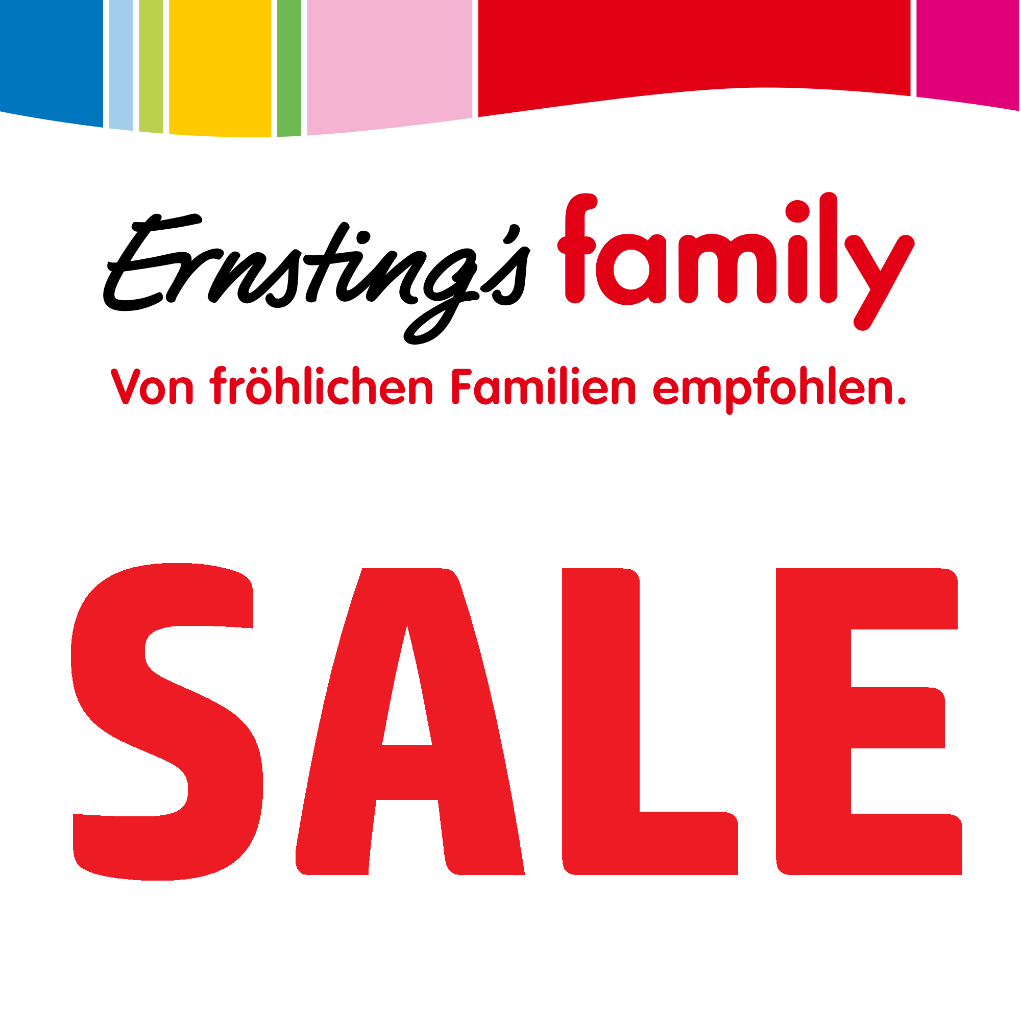 sale 50 extra rabatt bei ernstings family. Black Bedroom Furniture Sets. Home Design Ideas