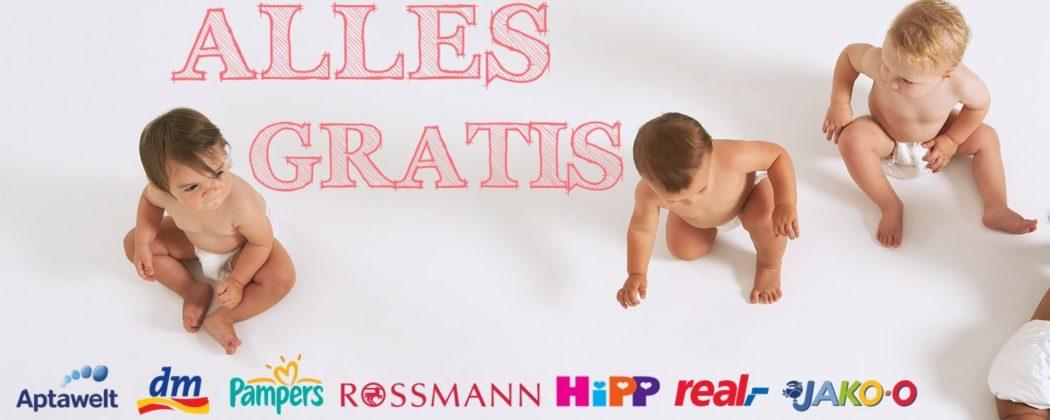 Banner: Alles gratis – Geschenke und Rabatte für euer Baby