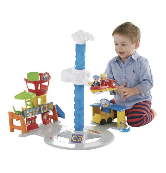 Kind spielt mit Flughafen