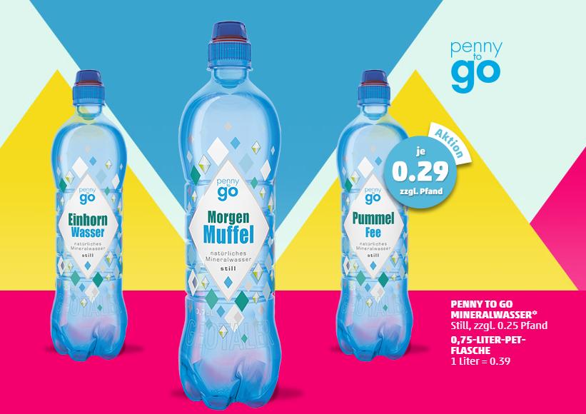 Penny Wasserflaschen mit Namen