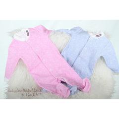 Babyglow Anzüge in rosa und blau