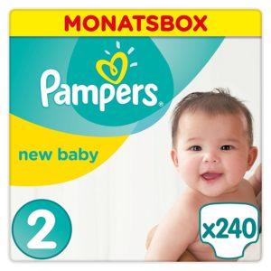 Pampers Monatsbox (x244) Größe 2 für 25,31€