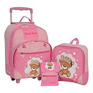 rosa koffer