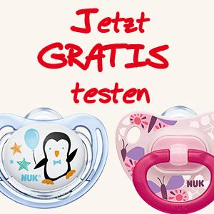 Gratis NUK Schnuller Testen Werbebild
