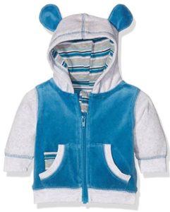Blau weiße Babyjacke mit Bärchenohren