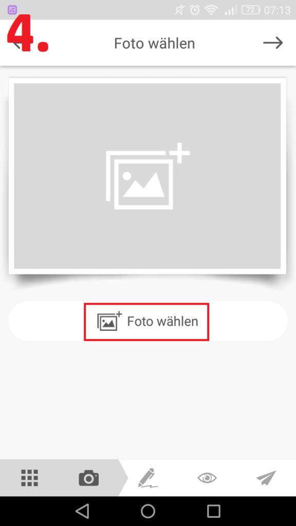 Mypostcard.com Schritt für Schritt Anleitung mit Screenshot