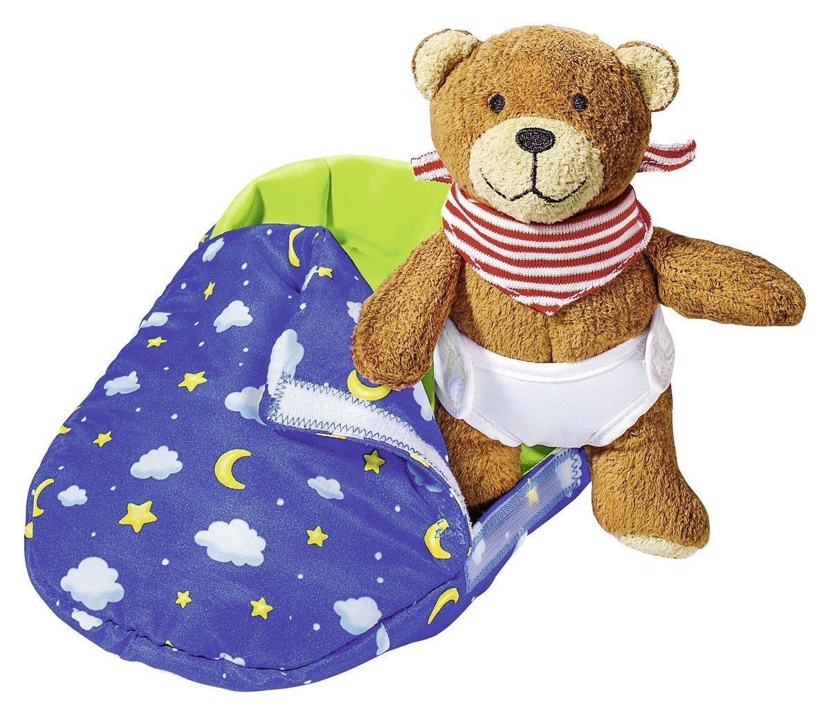Teddy Bär im Schlafsack