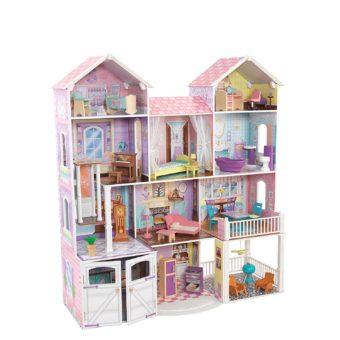 komplett eingerichtetes Puppenhaus