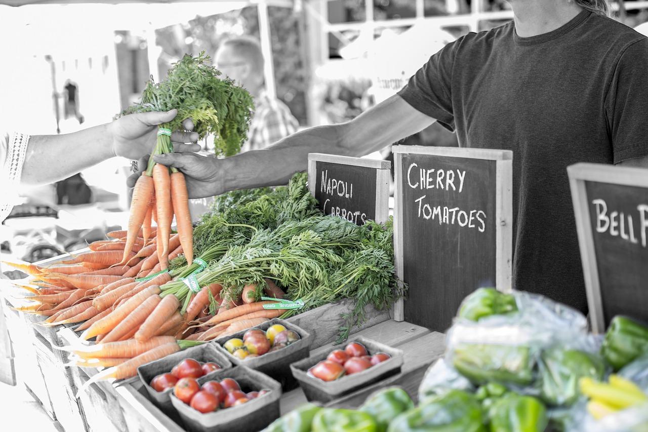 Beim Einkaufen - Karotten