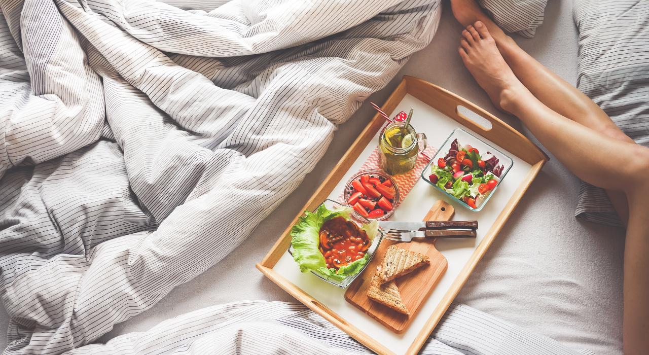 Veggie Frühstück im Bett