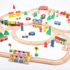 Holzeisenbahn Set