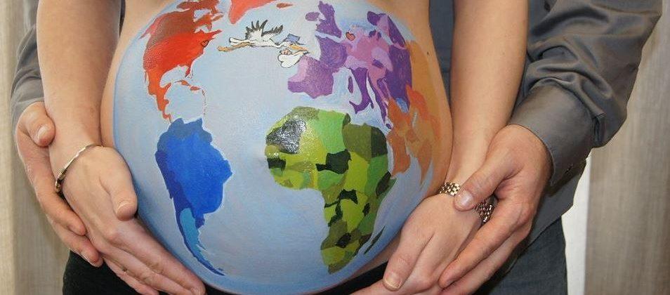 Banner: Babybauch als Model – Bemalungen, Zeitraffer-Videos uvm.