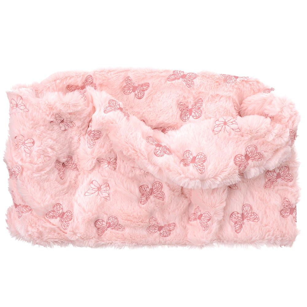 plüschiger Mädchenrundschal in rosa