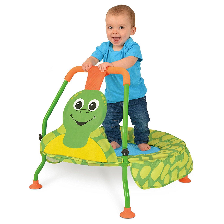 Froschtrampolin mit Baby drauf