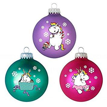 Weihnachtsbaumkugeln mit Einhörnern