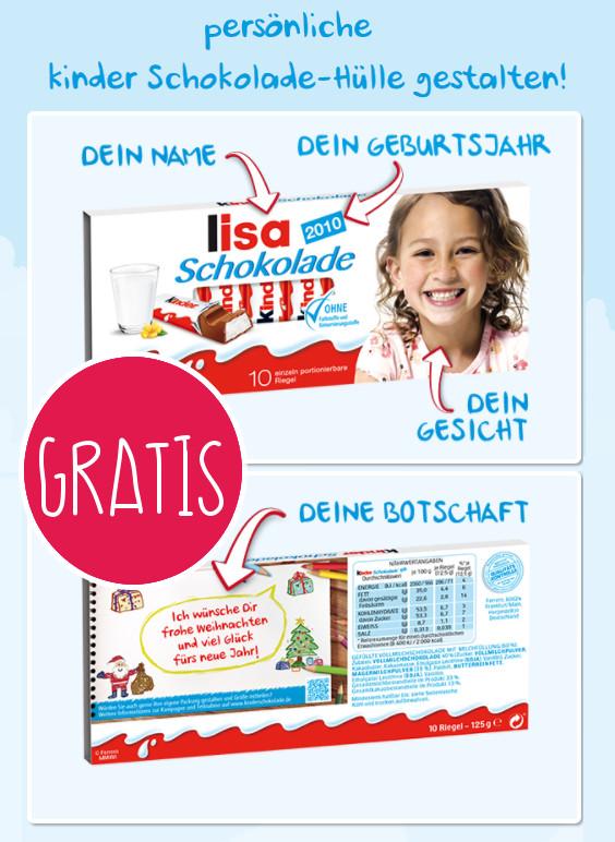 Kinderschokolade Verpackung