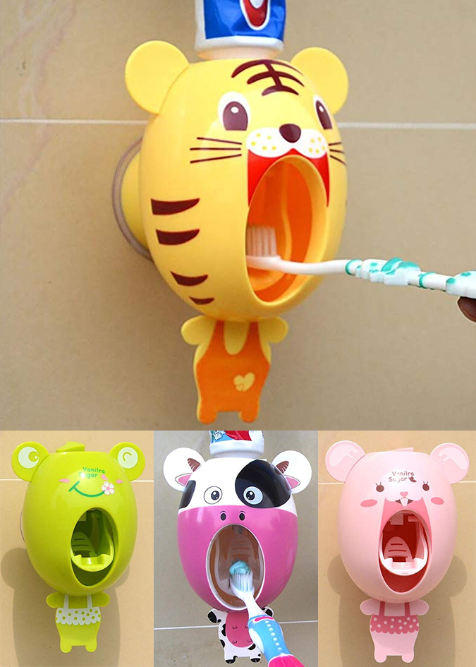 Zahnpastaspender im Tier-Design