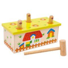 Hau den Wurm Holzespielzeug
