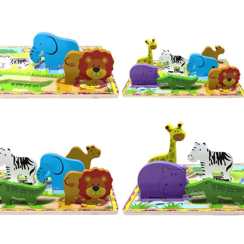 Safari Puzzel die Figuren