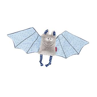 Fledermaus Schnuffeltuch in blau