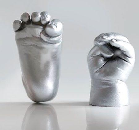 Handabdruck und Fußabdruck in 3D