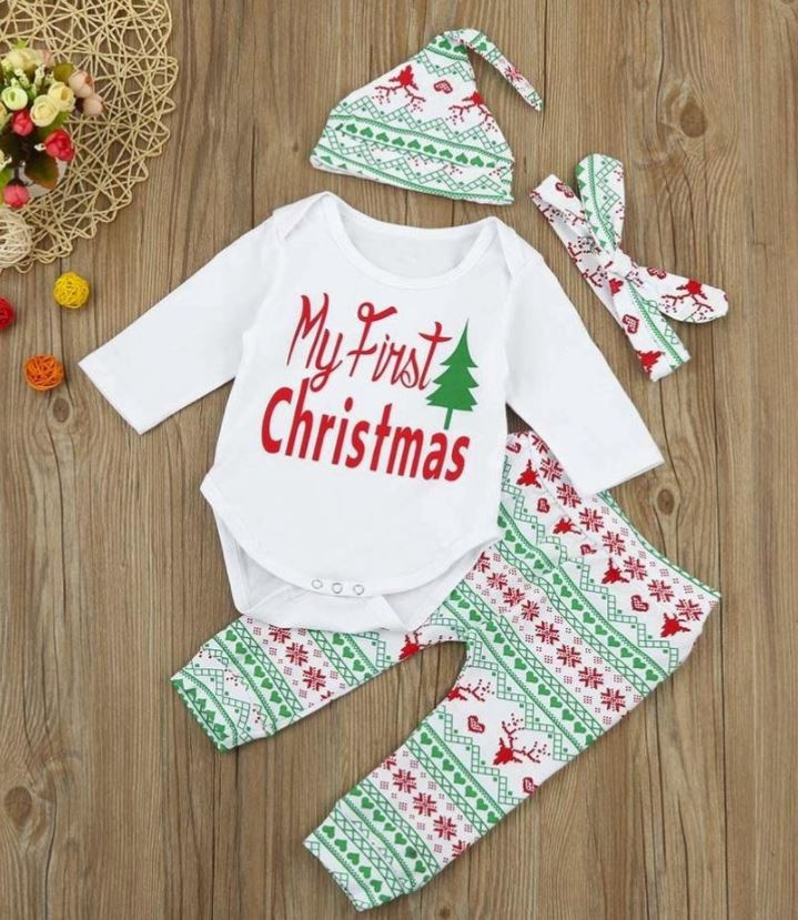 My first Christmas Outfit baby